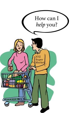 supermarket clerk